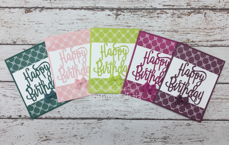 Fresh Florals In Colors Designer Paper & Happy Birthday Dies
