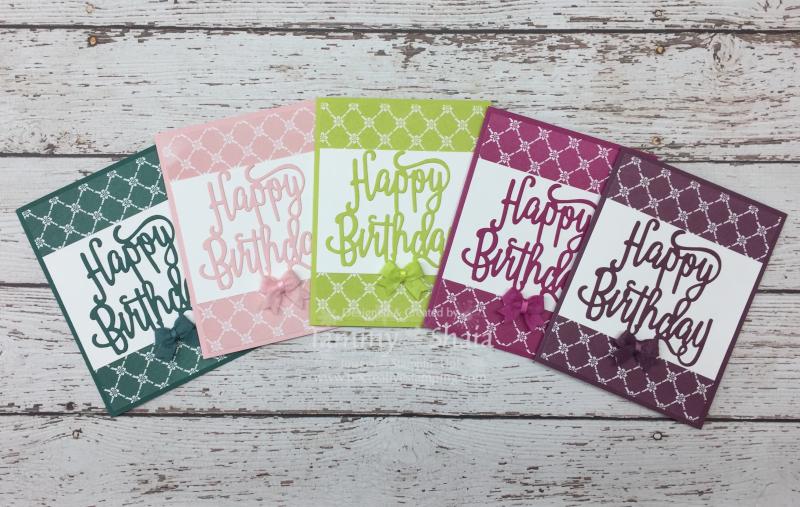 Fresh Florals In Colors Designer Paper & Happy Birthday Dies