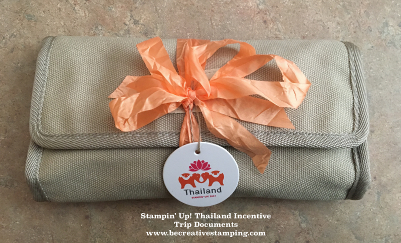 Stampin' Up! Thailand Incentive Trip Documents 3