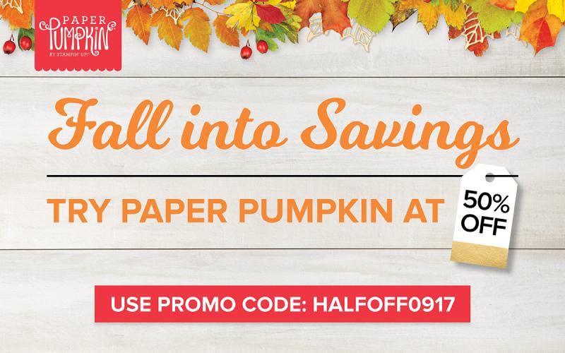 Paper Pumpkin August Promo