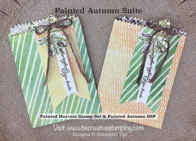 Painted Harvest Stamp Set Mini Treat Bag