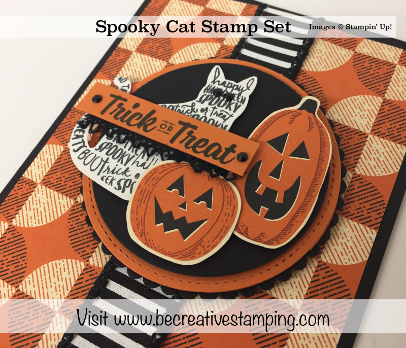 Spooky Cat Stamp Set Close-Up