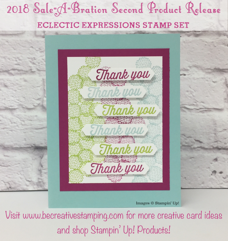 Eclectic Expressions Sale-A-Bration Card