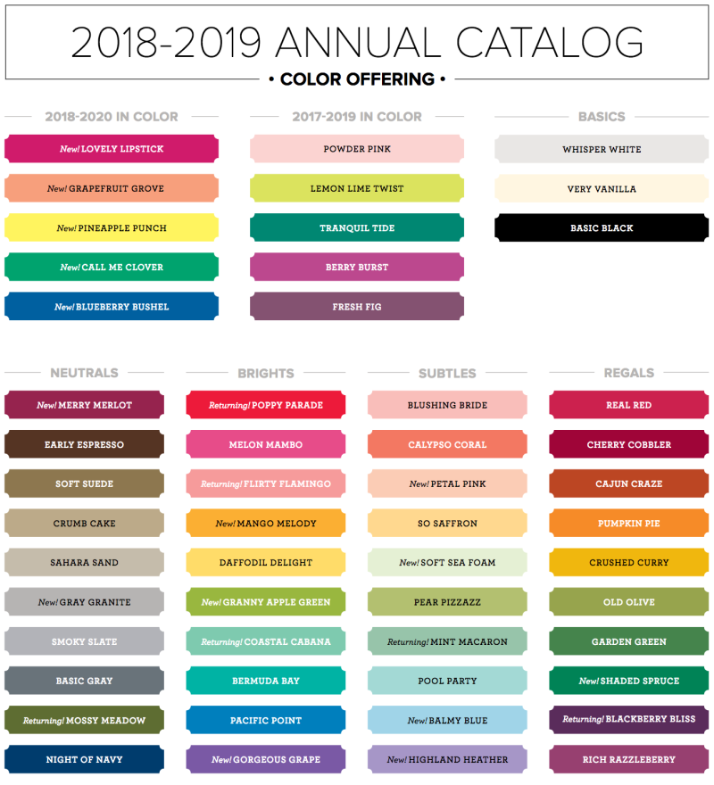 2018-19 Color Offering