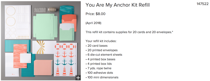 You are my anchor refill kit