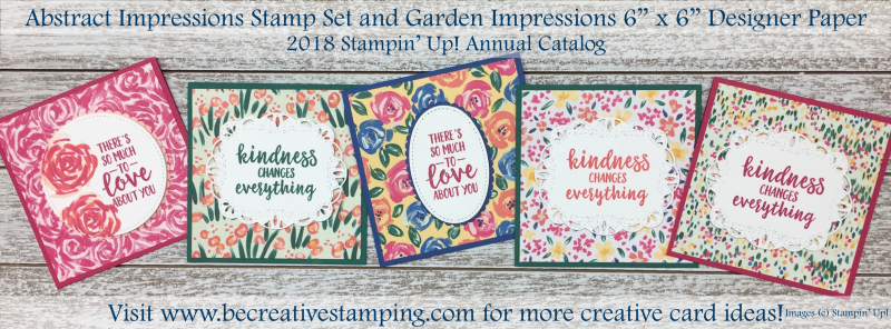 Abstract Impressions Stamp Set & Garden Impressions DSP