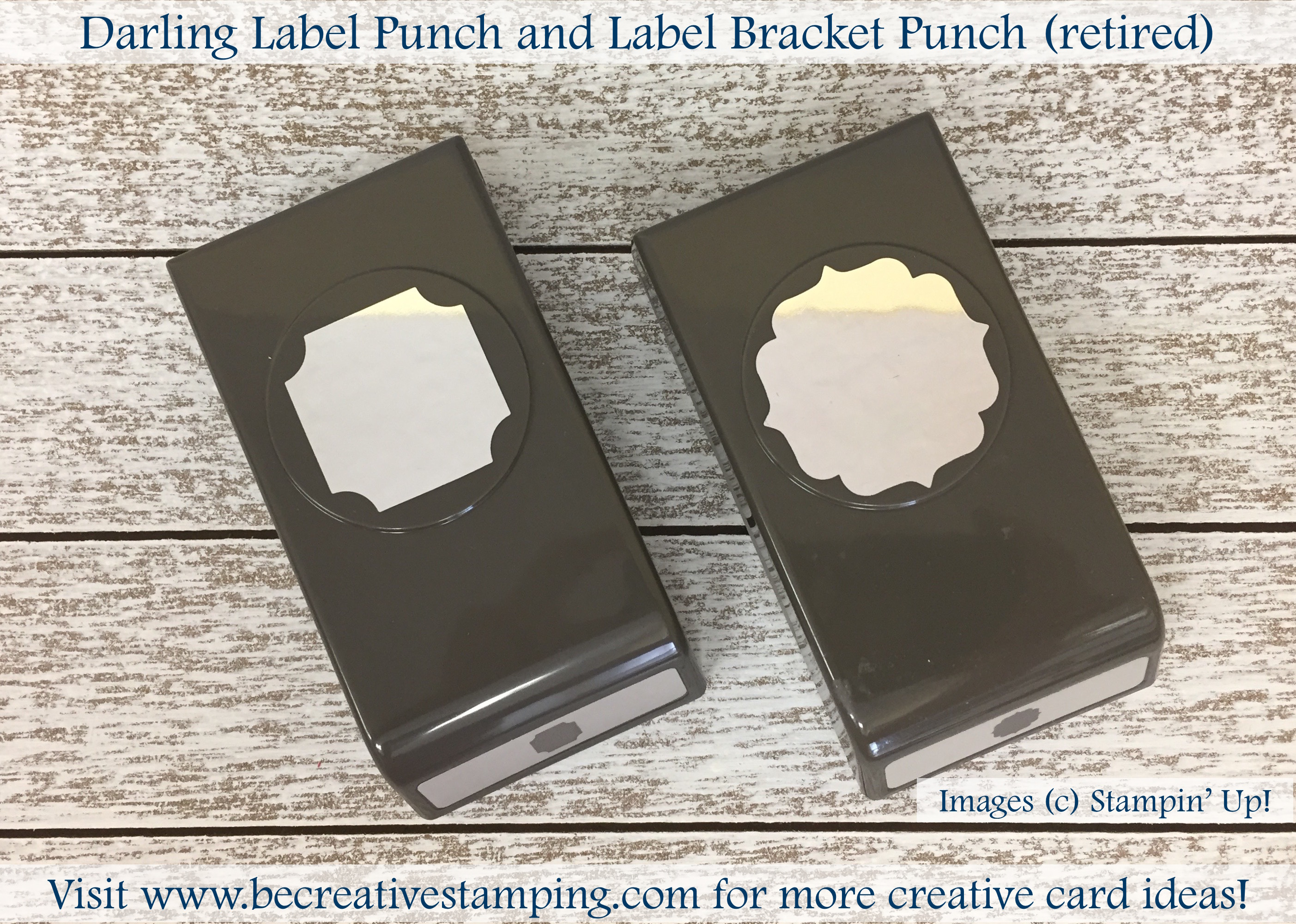 Stampin Up Retired Jumbo Punch You Pick