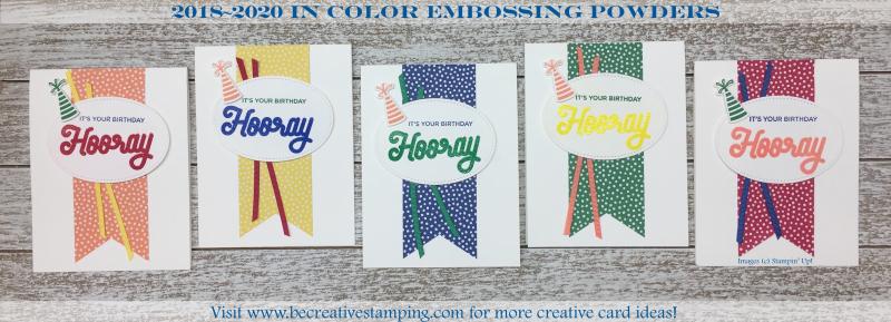 2018-2020 In Color Embossing Powders