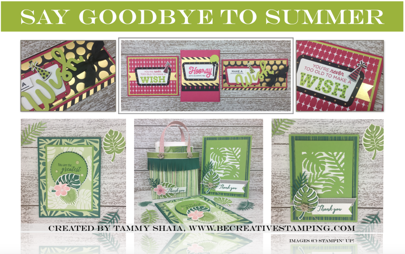 Broadway Bound and Tropical Chic Suites by Stampin' Up!