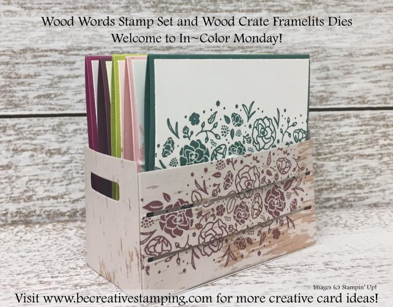 Wood Words Stamp Set and Wood Crate Framelits Dies