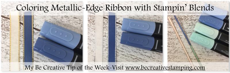 Coloring Metallic Edge Ribbon Using Stampin' Blends
