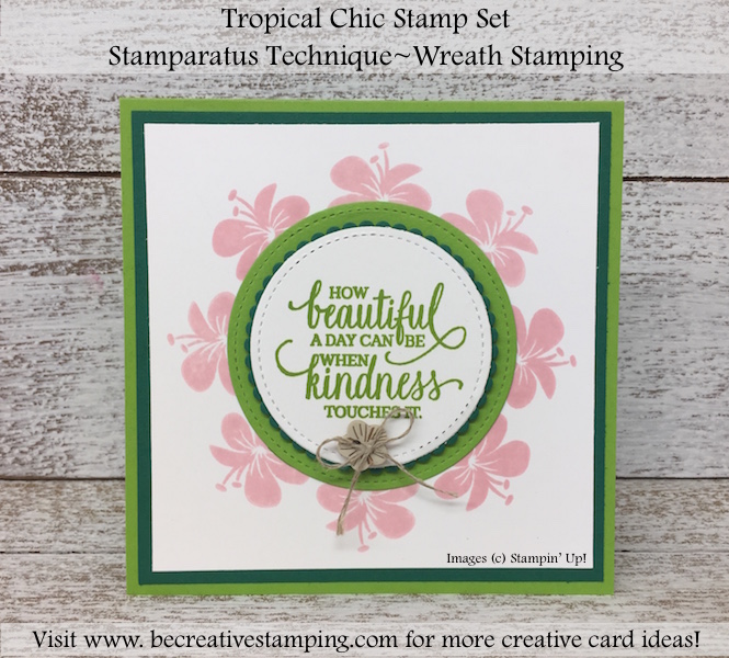 Stamparatus Wreath Stamping and Tropical Chic Stamp Set