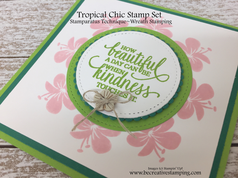 Stamparatus Wreath Stamping and Tropical Chic Stamp Set 2