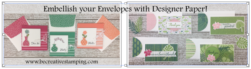 Embellish Envelopes with Designer Paper!