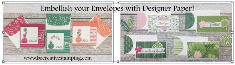 Embellish Envelopes with Designer Paper!