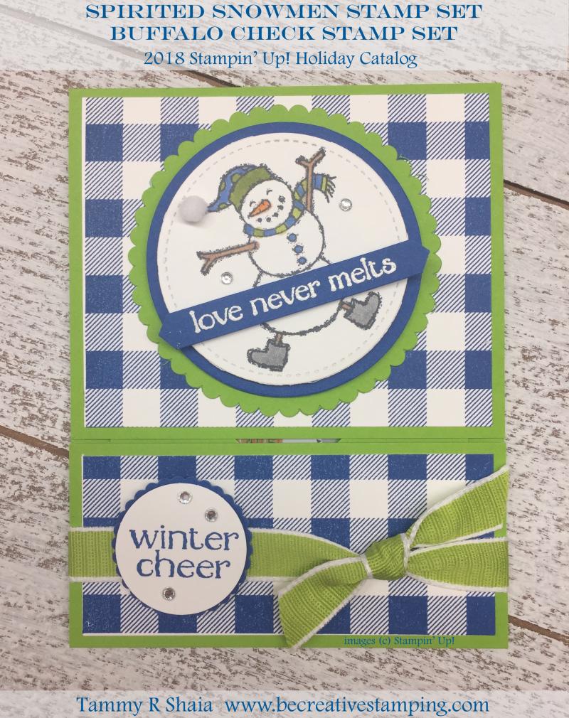 Spirited Snowmen Stamp Set and Buffalo Check Stamp Set