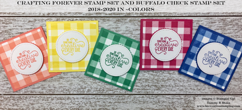 Crafting Forever and Buffalo Check Stamp Sets