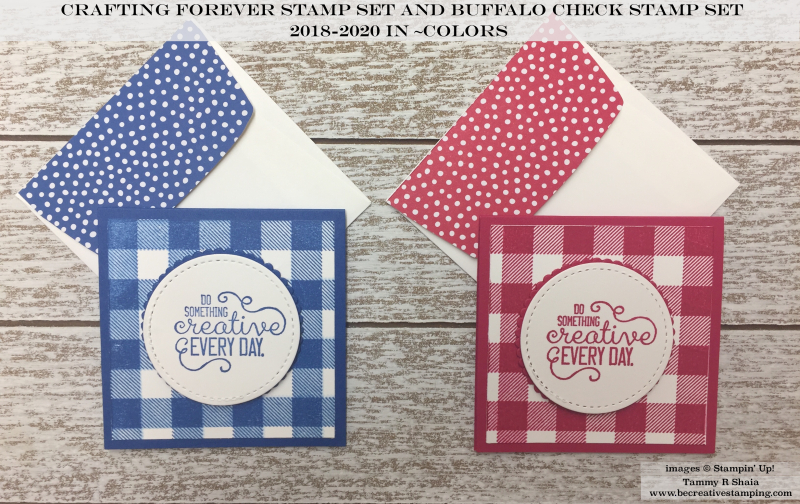 Crafting Forever Stamp Set and Buffalo Check Stamp Set 2