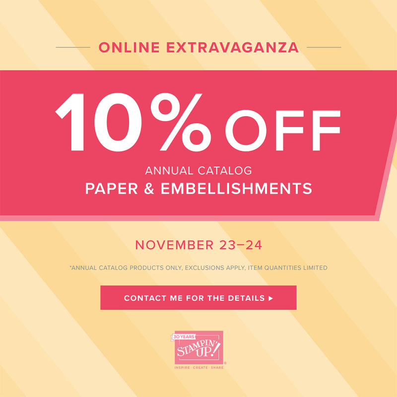 Paper & Embellishments Sale (Nov. 23-24)