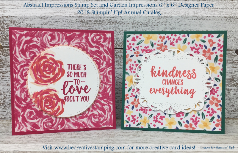 Abstract Impressions Stamp Set and Garden Impressions DSP 1