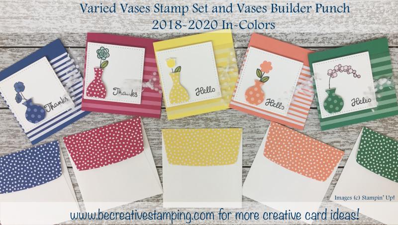 Varied Vases Stamp Set & Vases Builder Punch 2