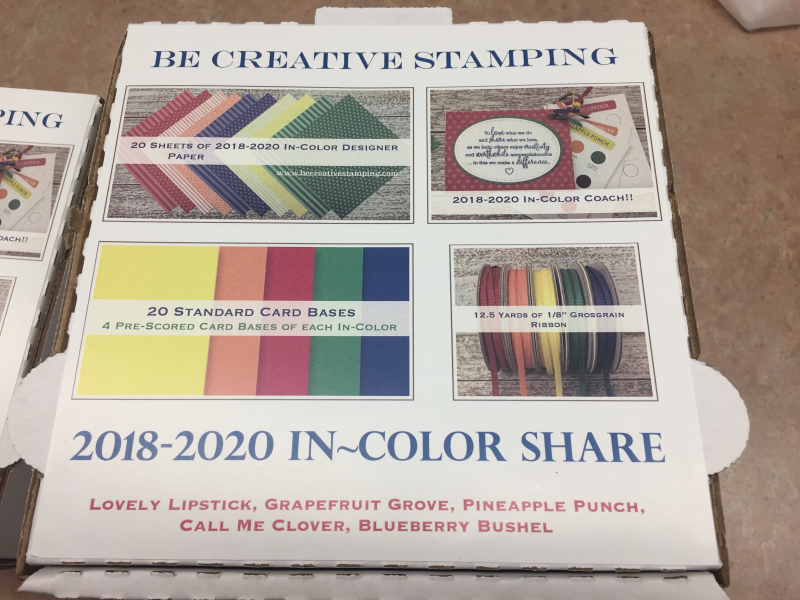 2018-2020 In Color Product Shares 1