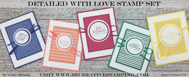 Detailed with Love Stamp Set-InColor Monday