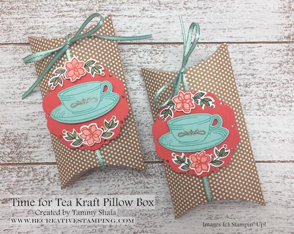 Time for Tea Kraft Pillow Box