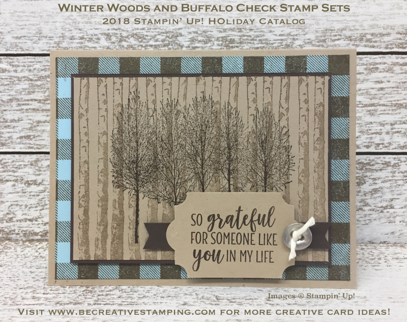 Winter Woods and Buffalo Checks Stamp Sets