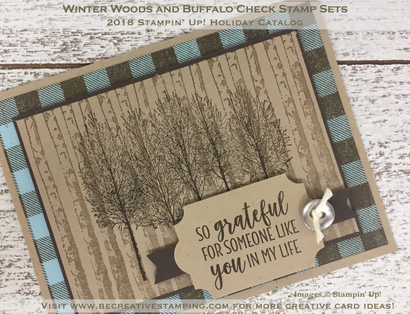 Winter Woods and Buffalo Check Stamp Sets 2