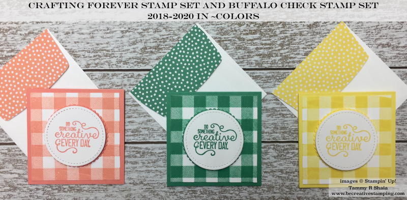 Crafting Forever and Buffalo Check Stamp Sets 3