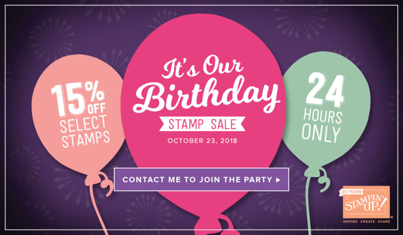 Stampin' Up! Birthday Sale