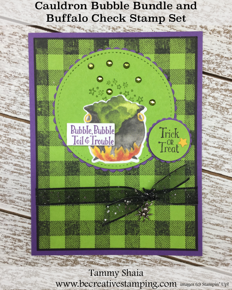 Cauldron Bubble Bundle and Buffalo Check Stamp Set