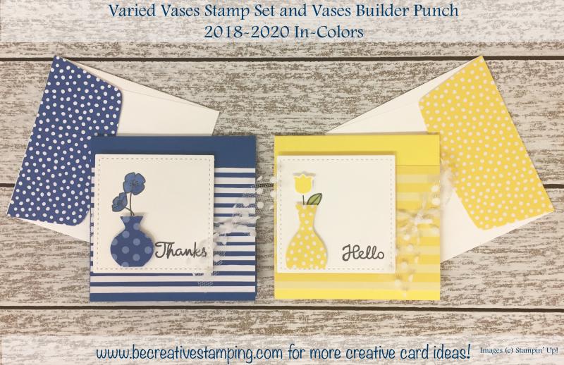 Varied Vases Stamp Set & Vases Builder Punch (4)