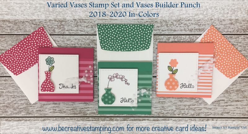 Varied Vases Stamp Set & Vases Builder Punch (3)