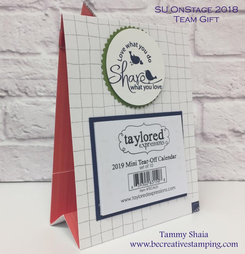 Team Gift Calendar Easel 2