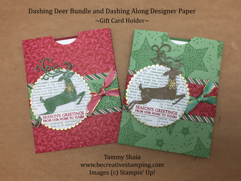 Dashing Deer Gift Card Holder