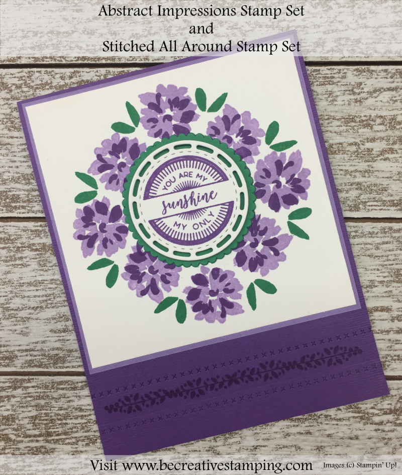 Abstract Impressions Stamp Set and Stitiched All Around Stamp Set