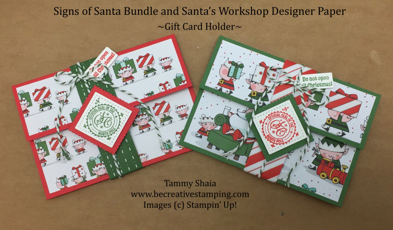 Santa's Workshop Gift Card Holder (2)