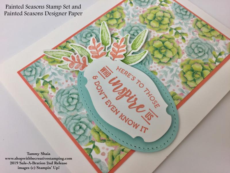 Painted Seasons Bundle Card close-up