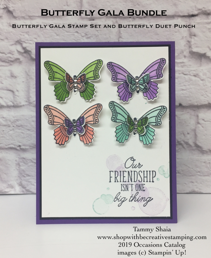 Butterfly Gala Stamp Set and Butterfly Duet Punch