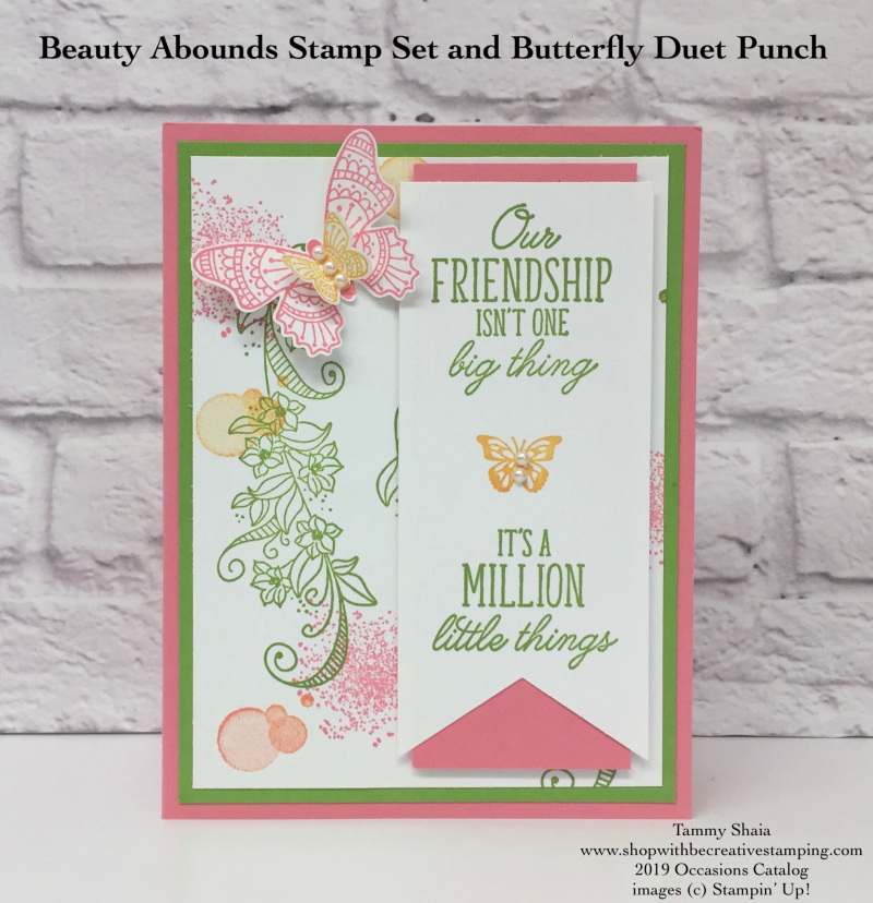Beauty Abounds Stamp Set and Butterfly Duet Punch