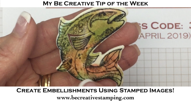Create Embellishments Using Stamped Images