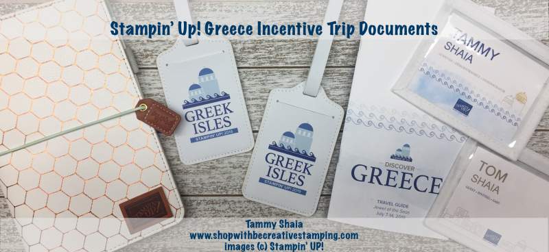 Stampin' Up! Greece Incentive Trip Documents