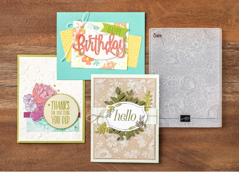 Country Floral Embossing Folder copy