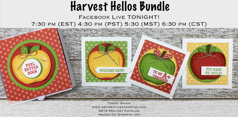 Harvest Hellos Bundle FB Live Tonight