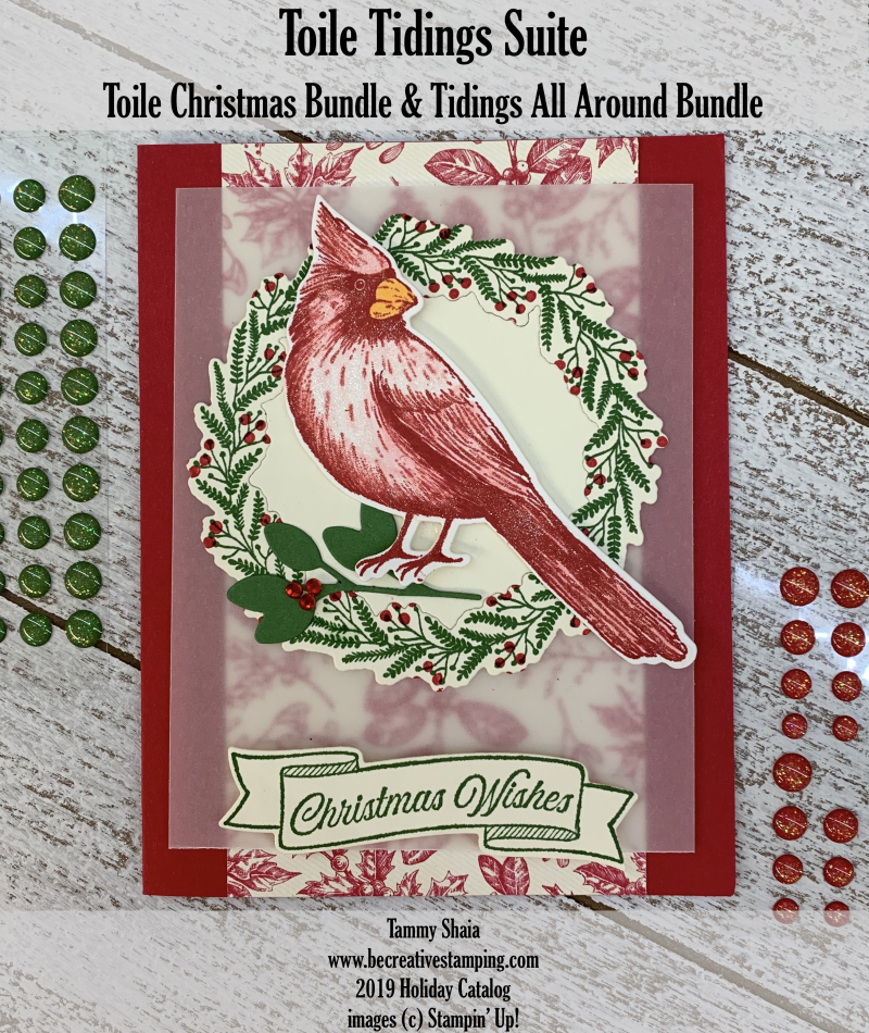 Toile Christmas and Tidings All Around Stamp Sets