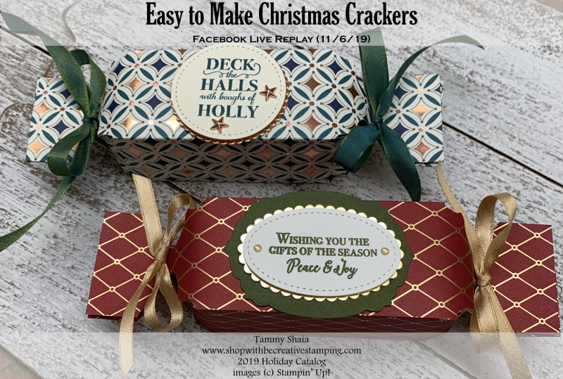 Easy to Make Christmas Crackers (FB REplay)