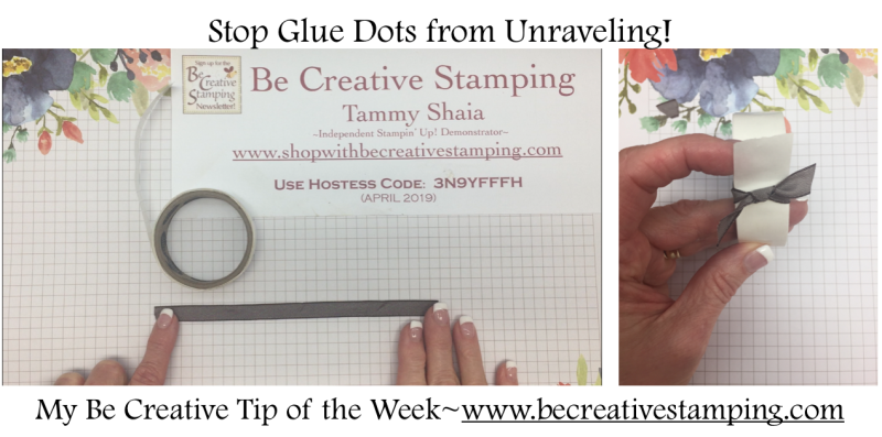 Stop Glue Dots From Unraveling!