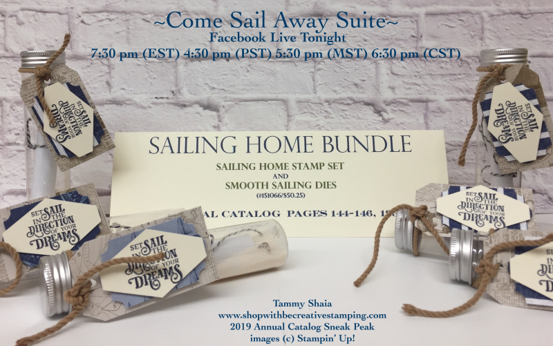 Sailing Home Stamp Set (FB Live Tonight)